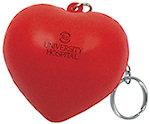 Valentine Heart Key Chain Stress Balls